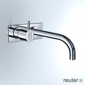 Vola concealed single lever basin mixer, operating lever left: 60 mm projection: 160 mm, stainless steel