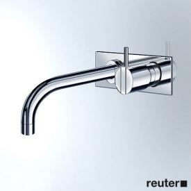 Vola 112X concealed single lever basin mixer, operating lever right: 25 mm projection: 160 mm, chrome