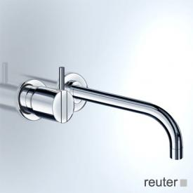 Vola 111/121 concealed single lever basin mixer, operating lever left: 25 mm projection: 300 mm, stainless steel