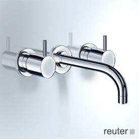 Vola 1511/1521 concealed, two handle basin mixer, operating lever: 25 mm projection: 225 mm, stainless steel