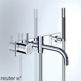 Vola 2143DMT8 single lever bath filler and shower mixer