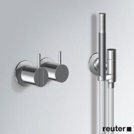 Vola 2471 concealed, single lever shower mixer with shower set stainless steel