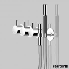 Vola 5471R bath filler and shower thermostat with diverter chrome high gloss