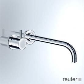 Vola concealed, wall-mounted basin valve, operating lever: 60 mm projection: 225 mm, stainless steel