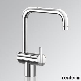 Vola KV1 single lever basin mixer with double swivel spout, without waste set chrome