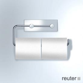 Vola T13 double toilet roll holder chrome high gloss