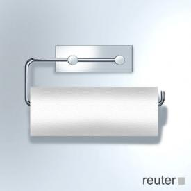 Vola T13L double toilet roll holder or 1 kitchen roll holder chrome high gloss