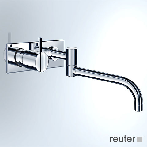 Vola 132 concealed single lever kitchen / basin mixer, operating lever: 25 mm stainless steel