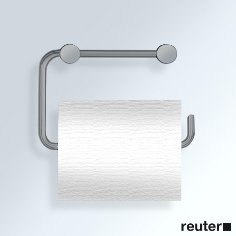 Vola T12BP toilet roll holder brushed stainless steel, without wall plate