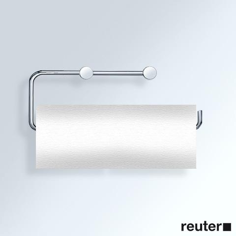 Vola T13LBP holder for 2 toilet rolls or 1 kitchen roll chrome high gloss