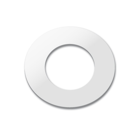 Vola 001G cover escutcheon for outlet sleeve, inner Ø 33 mm chrome