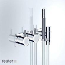 Vola 2473 single lever bath and shower mixer stainless steel