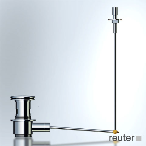 Vola A14 pop-up waste set with pullrod stainless steel
