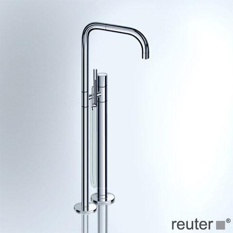 Vola FS1 freestanding bath filler and shower fitting stainless steel