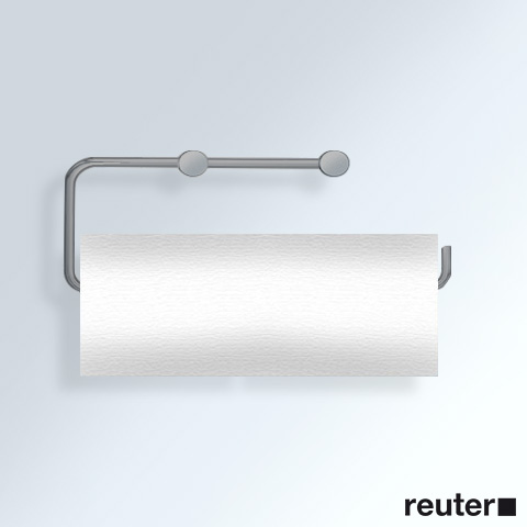 Vola T13LBP holder for 2 toilet rolls or 1 kitchen roll brushed stainless steel