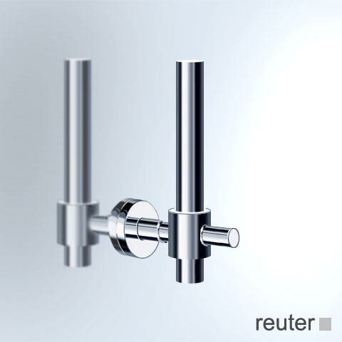 Vola T14 toilet roll holder for spare roll chrome high gloss