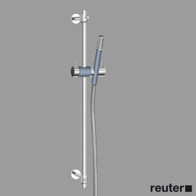 Vola T34 Shower rail with slider and shower set chrome