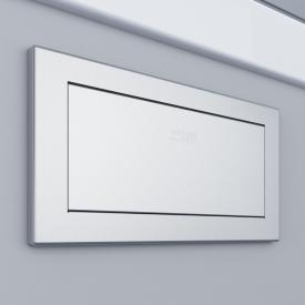 Wagner-Ewar swing flap with mounting frame WP 135 for undertable mounting brushed stainless steel
