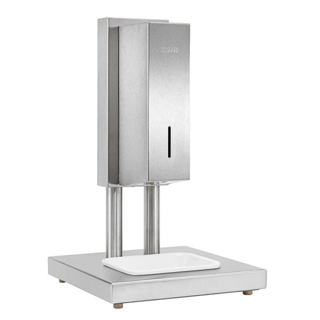 Wagner-Ewar A-Line freestanding hygiene station with sensor-operated disinfectant dispenser, table top model