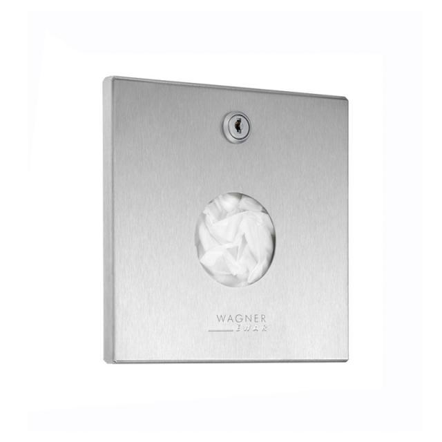 Wagner-Ewar A-Line recessed sanitary bag dispenser brushed stainless steel