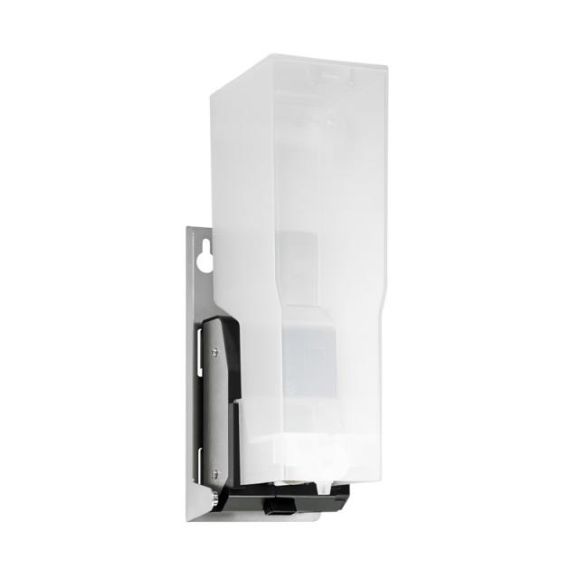 Wagner-Ewar A-Line recessed sensor disinfectant dispenser in a cabinet brushed stainless steel