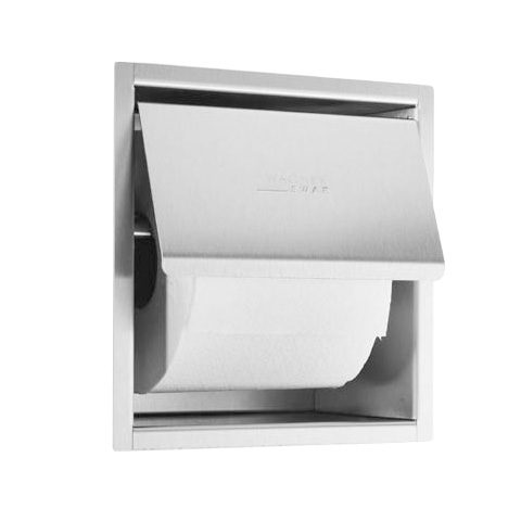 Wagner-Ewar A-Line recessed toilet roll holder brushed stainless steel