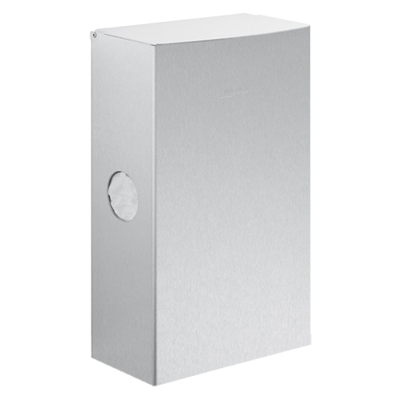 Wagner-Ewar A-Line sanitary waste bin with sanitary bag dispenser 4 litres brushed stainless steel