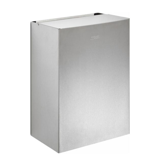 Wagner-Ewar A-Line sanitary waste bin with sanitary paper bag dispenser 12 litres brushed stainless steel