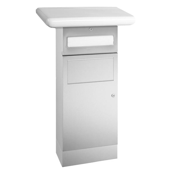 Wagner-Ewar A-Line undercounter paper towel dispenser and waste bin combination brushed stainless steel