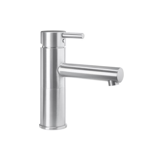 Wagner-Ewar A-Line washbasin fitting WA 200 for low pressure without waste set, brushed stainless steel