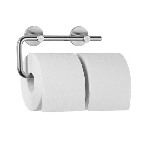 Wagner-Ewar AC double toilet roll holder brushed stainless steel