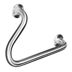 Wagner-Ewar BF 630 angled grab rail 45° 500 mm, right, matt polished stainless steel