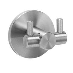 Wagner-Ewar double hook AC 216 matt polished stainless steel