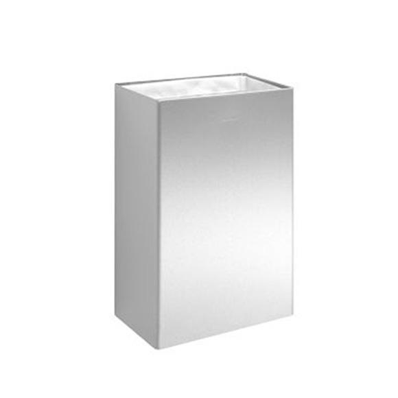 Wagner-Ewar P-Line waste bin 34 litres brushed stainless steel