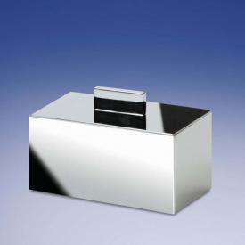 WINDISCH Box Metal Lineal container for cotton buds with lid chrome