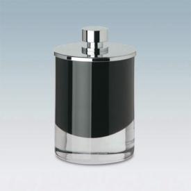 WINDISCH Fashion cotton ball holder black/chrome