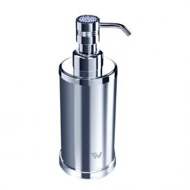 WINDISCH Star Light Round soap dispenser chrome/clear