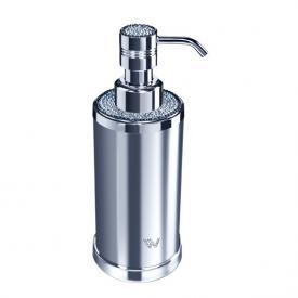 WINDISCH Star Light Round soap dispenser chrome/clear