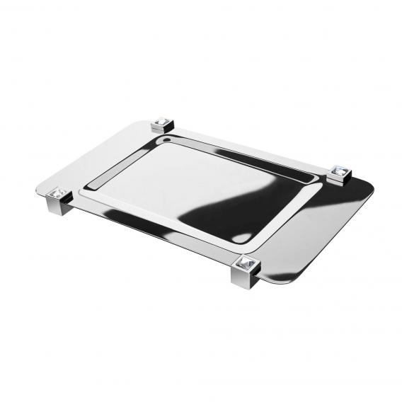 WINDISCH Moon Light Square soap dish/shelf chrome/white