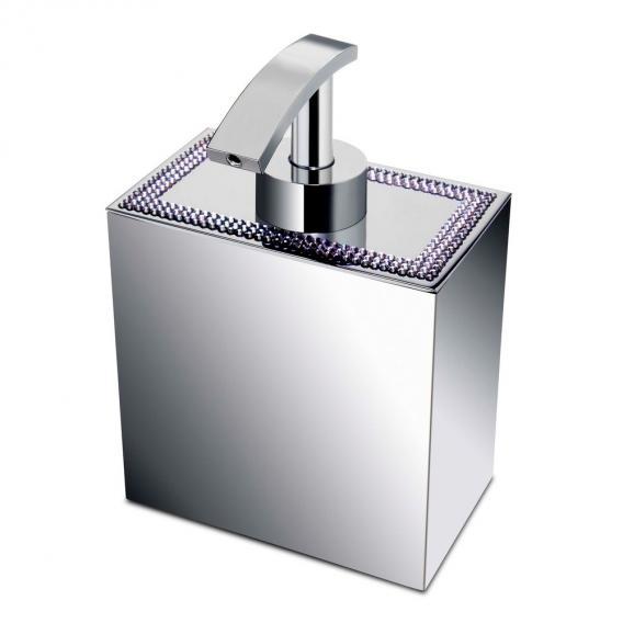 WINDISCH Shine Light Square soap dispenser chrome/clear