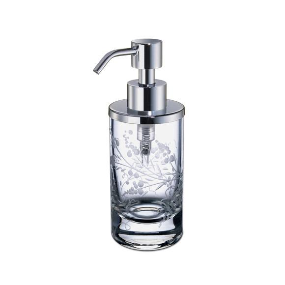 WINDISCH Barocco mini soap dispenser chrome/clear
