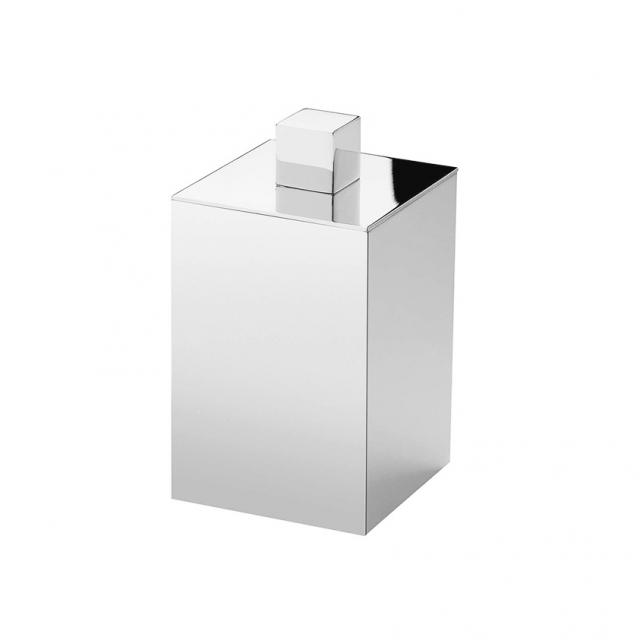 WINDISCH Box Metal Lineal container for cotton buds with lid satin nickel