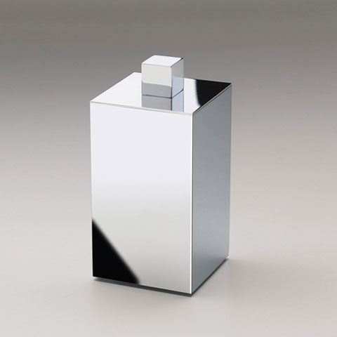 WINDISCH Box Metal Lineal cotton ball holder with lid chrome