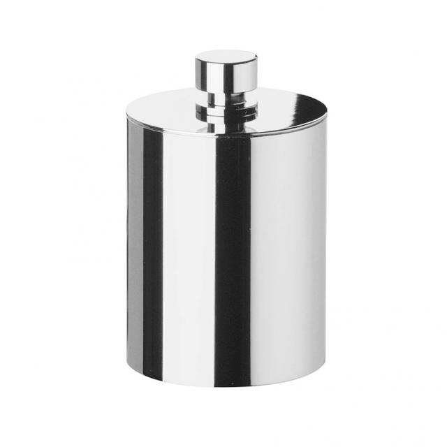 WINDISCH Cylinder Plain cotton ball holder with lid chrome