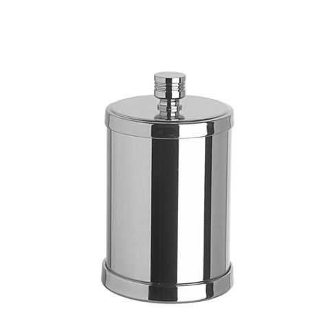WINDISCH Cylinder Ribbet container for cotton buds with lid chrome