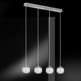 Wofi Fulton LED pendant light 4 heads