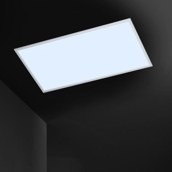 Wofi Liv LED ceiling light with dimmer including colour temperature changer