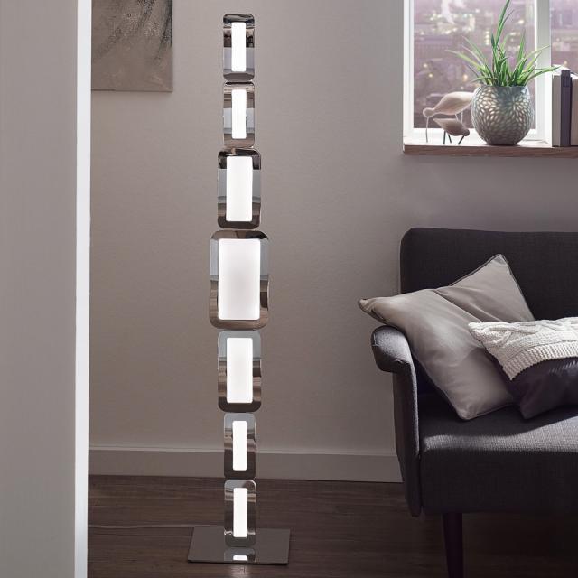 wofi Saga LED floor lamp with dimmer