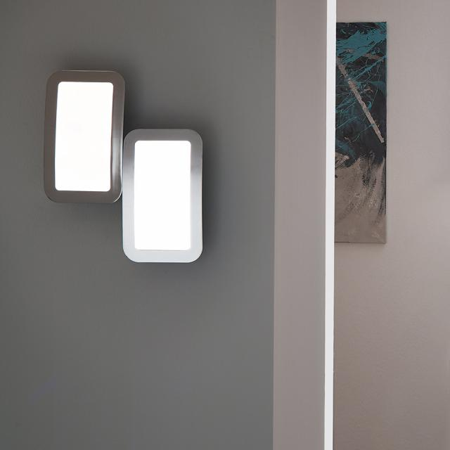 wofi Saga LED wall light with dimmer