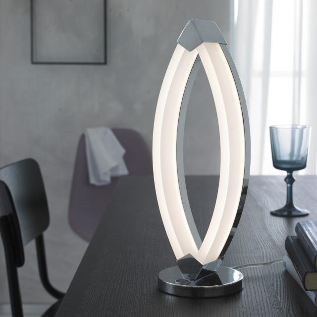 wofi Vannes LED table lamp with dimmer